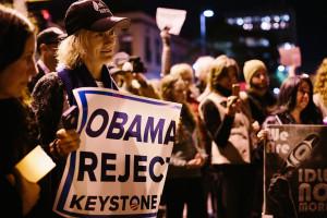Manifestations à l'encontre de l'oléoduc Keystone à Santa Monica